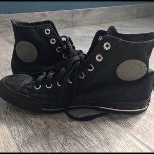 Converse black high top sneakers